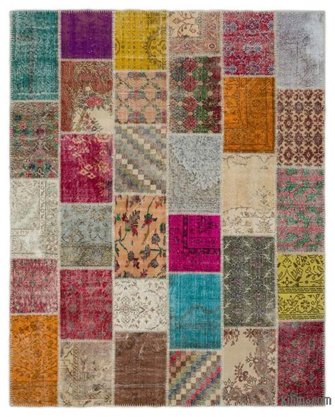 Turkish Patchwork Rug - k0021158 turkish patchwork rug kilim rugs overdyed