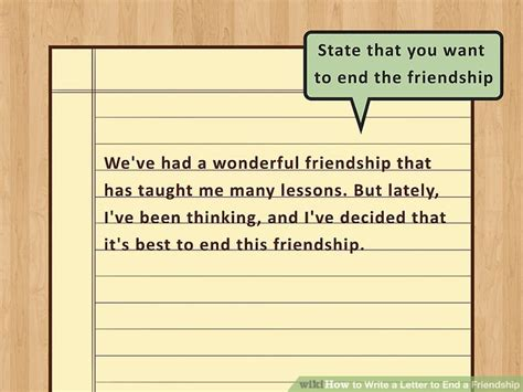 up letter friendship how to write a letter to end a friendship 9 steps with