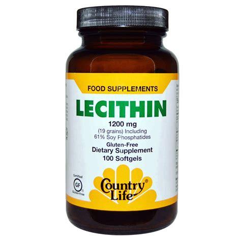 Suplemen Lechitin Country Gluten Free Lecithin 1200 Mg 100 Softgels