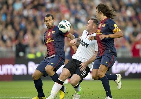 barcelona vs mu manchester united vs barcelona friendly game ends 0 0