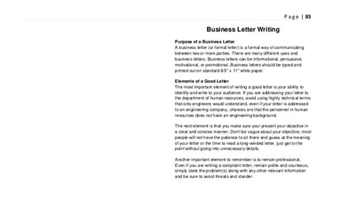 business letter exle grade 9 writing in discipline