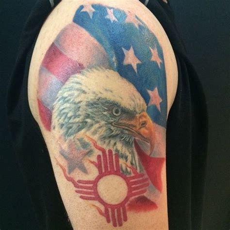 new mexico tattoo designs http tattoonewmexico org patriotic american flag bald