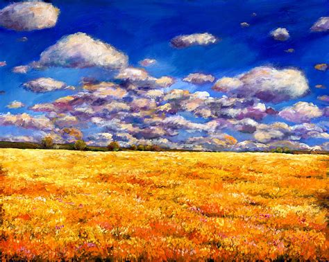 Landscape Artists Fields Fields Of Gold Painting By Johnathan Harris