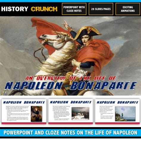 napoleon bonaparte biography ppt napoleon bonaparte powerpoint and cloze notes on his