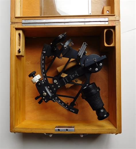 sextant the elegant instrument that guided the great explorers and a young man s first journey a superb 2nd ww cased german naval sextant issued to the kriegsmarine by c plath hamburg