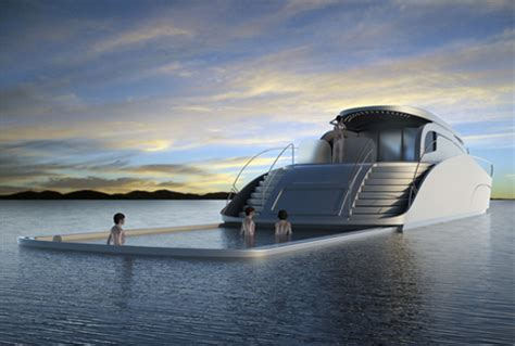 luxury boat houses luxury yacht portable pool safe deep ocean swimming