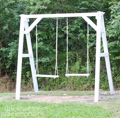 simple swing sets make this simple wooden swing seat
