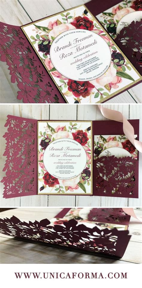 Cheap Wedding Invitations Wine by 25 Best Ideas About Floral Wedding Invitations On