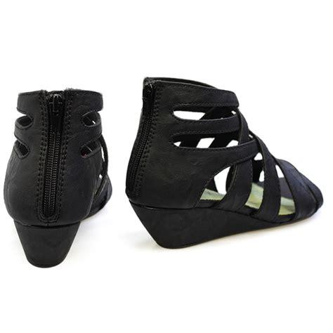 black gladiator wedge sandals blowfish casita black gladiator wedge sandals