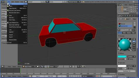 blender tutorial easy blender tutorial making a simple model of a car part 1 the
