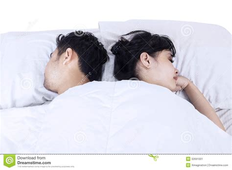 sleeping in asia attractive couple sleeping in bed stock image image