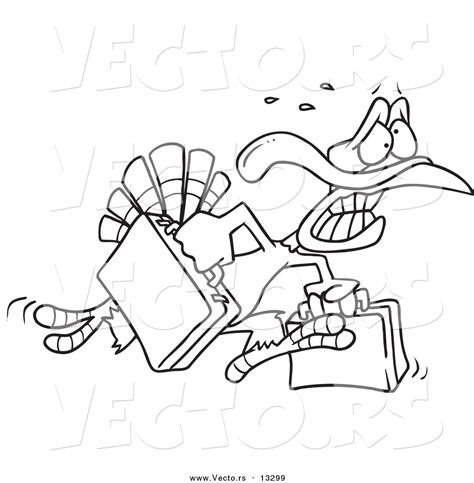 running turkey coloring page royalty free escape stock designs