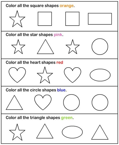 worksheets for preschool about shapes shapes math worksheets preschool worksheets fun math