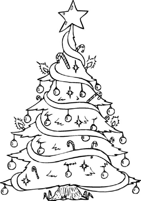 free christmas tree coloring pages christmas ornaments