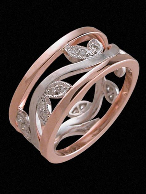 leaf pattern diamond ring peter shakes jeweller collections dress rings k1510