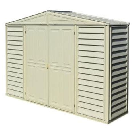 Vinyl Sheds Home Depot by Duramax Building Products Sidepro 10 5 Ft X 3 Ft Vinyl