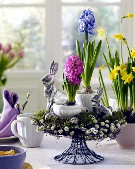 25 ideas for adorable easter table decorations a visual