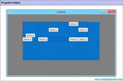 javafx layout root javafx gridpane columnconstraints and rowconstraints