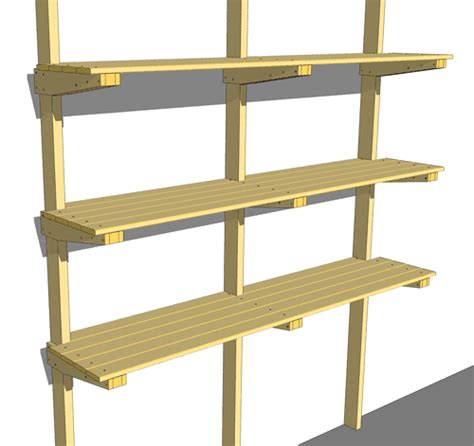 pictures of shelves garage shelf plans