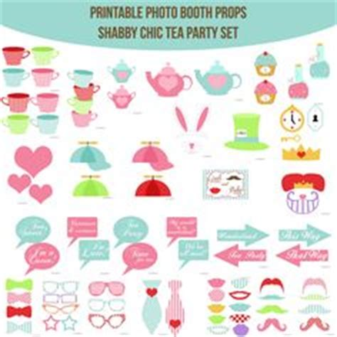 free printable tea party photo booth props photo booth props shabby chic baby shower diy