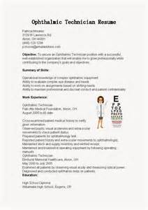 resume samples ophthalmic technician resume sample