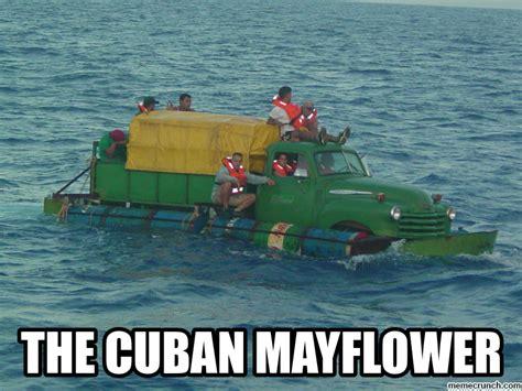floating boat meme the cuban mayflower