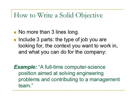 cover letter how to write your objective on a resume how to write