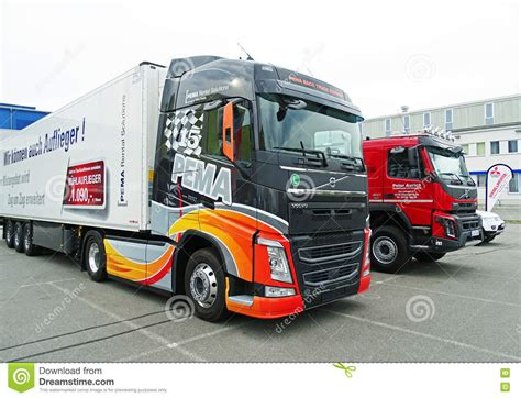 volvo truck service germany modern volvo trucks editorial photo image of europe