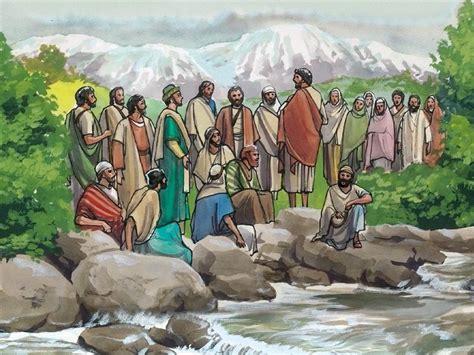 freebibleimages peters confession  jesus jesus asks  disciples