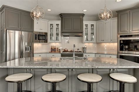 moon white granite with cabinets moon white granite kitchen transitional with oven