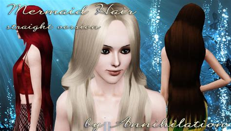 sims 3 princess hair annihilation s mermaid hair straight version