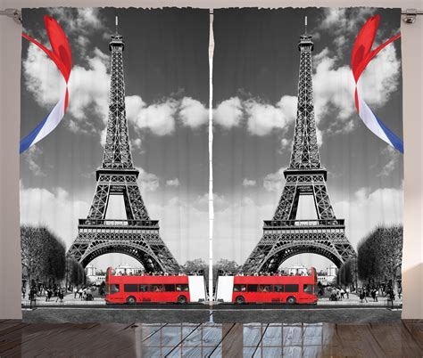 eiffel tower bedroom accessories eiffel tower paris city decor bedroom living room french style curtain 2 panels ebay