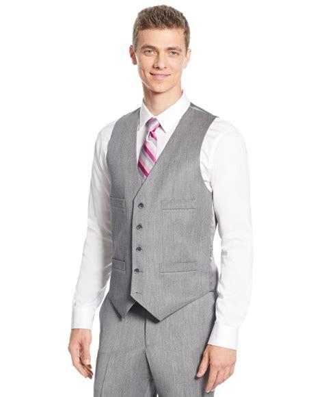 light gray vested suit kenneth cole reaction light grey sharkskin slim fit vested