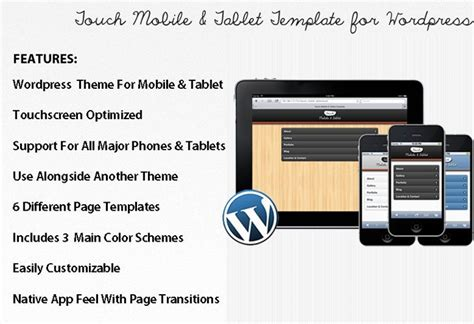 themes for touch mobile touch mobile tablet wordpress theme download review 2018