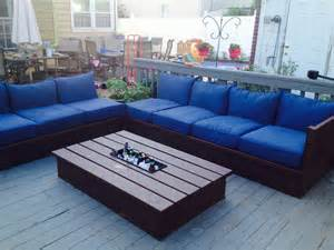 off white sectional sofa ana white pallet style outdoor platform sectional variation with patio table diy projects