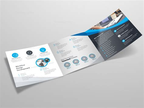 square trifold brochure template 000086 template catalog