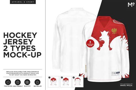 desain jersey mock up hockey jersey 2 types mock up product mockups creative