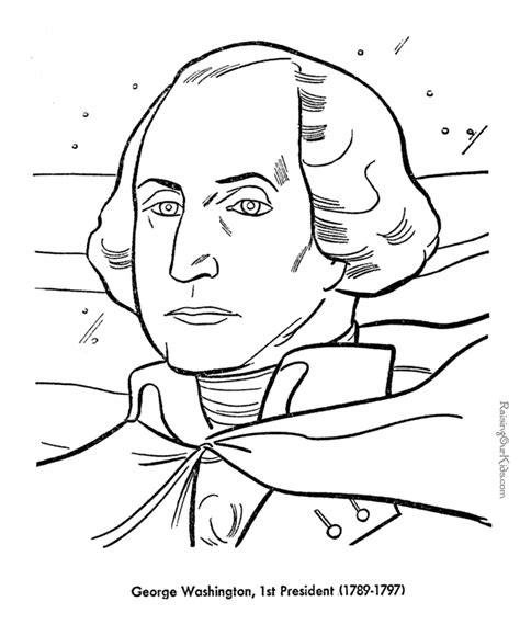 George Washington Coloring Pages Free And Printable Coloring Pages George Washington