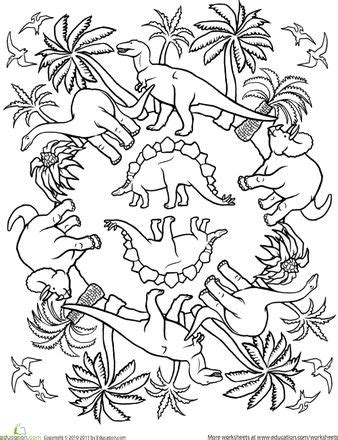 dinosaur mandala coloring pages 19 best images of coloring worksheets ab pattern