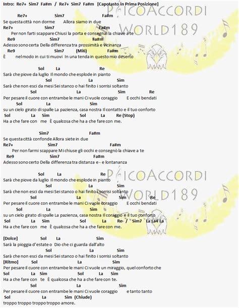 consoli accordi psicoaccordiworld189 tiziano ferro il conforto ft