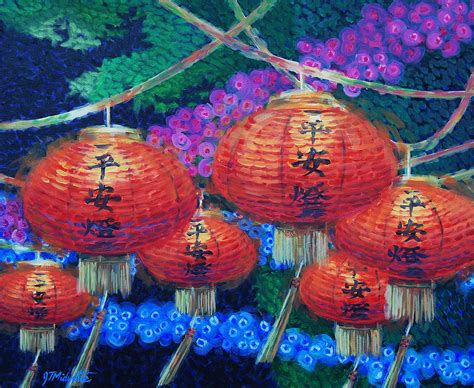 Lantern Home Decor chinese lanterns painting by tommy midyette