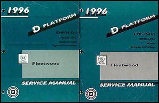 car repair manual download 1996 cadillac fleetwood parking system 1996 cadillac fleetwood repair shop manual original 2 volume set