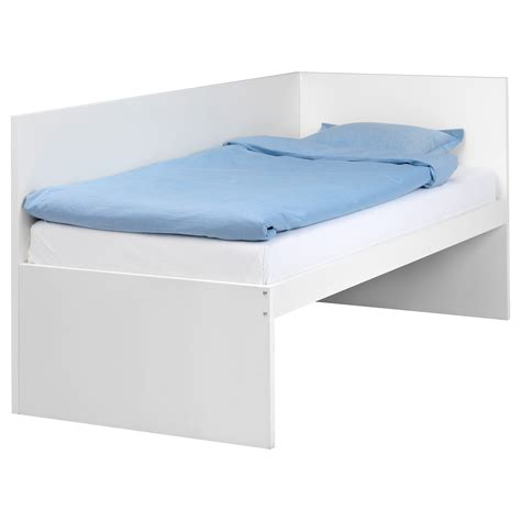 ikea twin bed flaxa bed frm w headboard slatted bd base white 90x200 cm