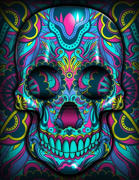 colorful skull best 25 colorful skulls ideas on day of the