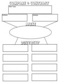 Compare Contrast Graphic Organizer For Essay by Point By Point Compare And Contrast Essay Graphic Organizer Compare And Contrast Map