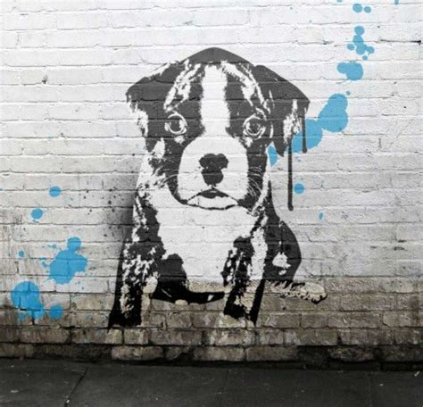 design canine graffiti banksy pet photos banksy style groovy canvas prints