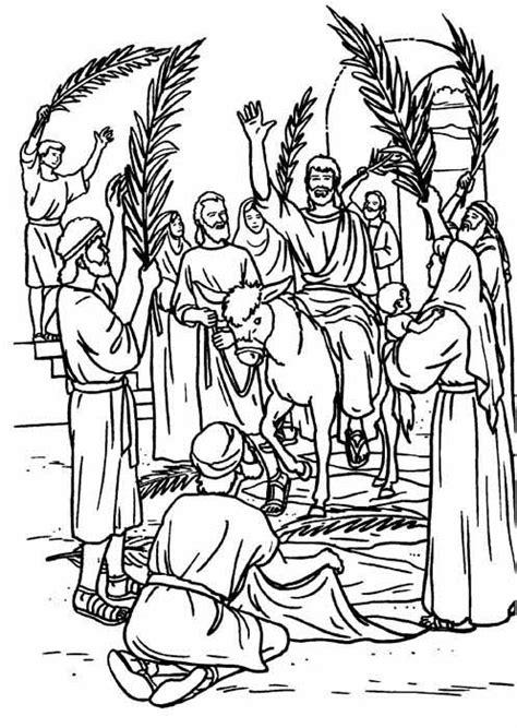 imagenes para colorear la semana santa domingo de ramos dibujalia dibujos para colorear