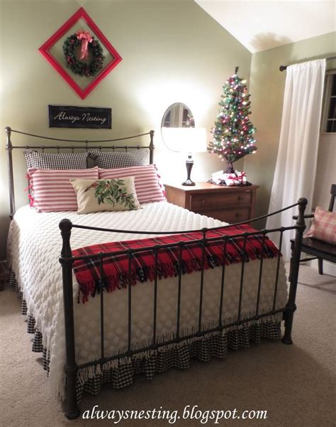 plaid bedroom ideas dust ruffle guest rooms and christmas love on pinterest