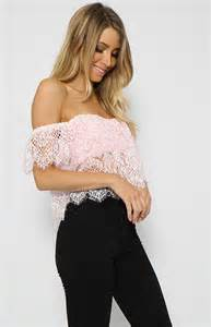 Home Decor Stores In Arizona honeywell crop pink off the shoulder from peppermayo