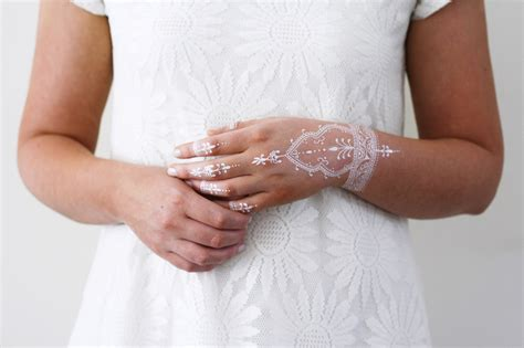 white temporary tattoo white henna temporary temporary tattoos by tattoorary